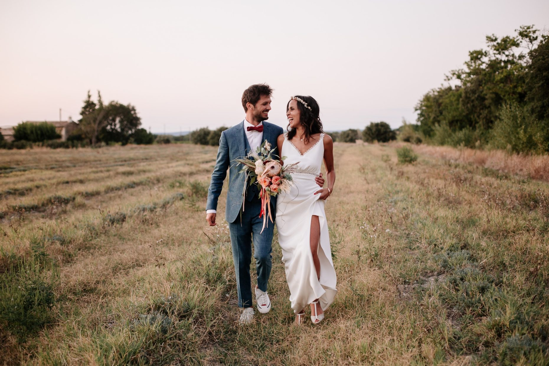 Couple de mariés à Richerenches